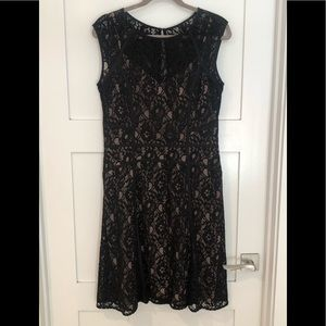 BCBG Black Lace Dress Size Large